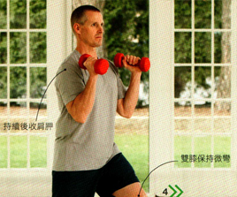 分腿蹲推举 Split squat and thruster